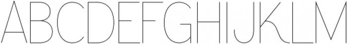 Greback Grotesque Thin ttf (100) Font UPPERCASE