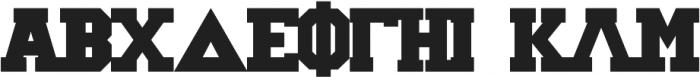 Greek House Collegiate ttf (400) Font UPPERCASE