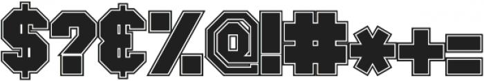 GreekHouse Collegiate Outline ttf (400) Font OTHER CHARS