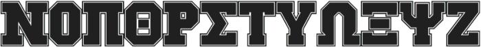 GreekHouse Collegiate Outline ttf (400) Font UPPERCASE