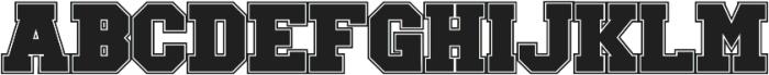 GreekHouse Collegiate Outline ttf (400) Font LOWERCASE