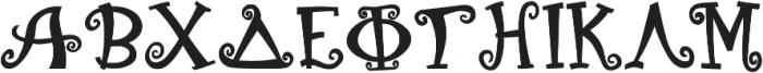 GreekHouse Kurlz Bold ttf (700) Font UPPERCASE