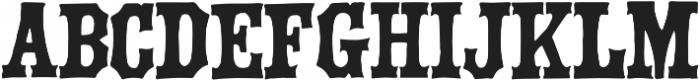 Green Howard ttf (400) Font UPPERCASE