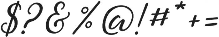 Greenstone Script Bold Italic otf (700) Font OTHER CHARS