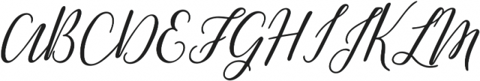 Greenstone Script Italic otf (400) Font UPPERCASE