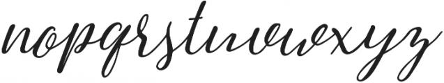 Greenstone Script Italic otf (400) Font LOWERCASE