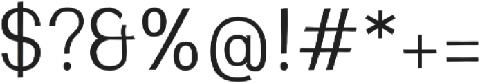 Greenstyle Light otf (300) Font OTHER CHARS