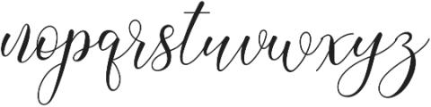 Gresya otf (400) Font LOWERCASE