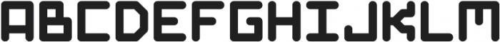 GridType Round Regular otf (400) Font LOWERCASE