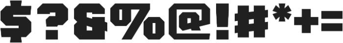 Gridiron 210 Black otf (900) Font OTHER CHARS