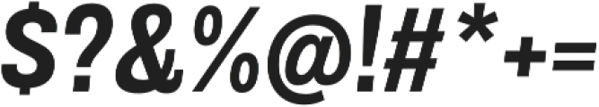 Grillmaster Bold Italic otf (700) Font OTHER CHARS
