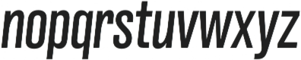 Grillmaster Cond Regular Italic otf (400) Font LOWERCASE