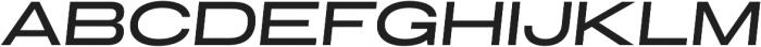 Grillmaster Extended Medium Italic otf (500) Font UPPERCASE
