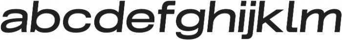 Grillmaster Extended Medium Italic otf (500) Font LOWERCASE