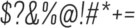 Grillmaster Narrow Extra Light Italic otf (200) Font OTHER CHARS