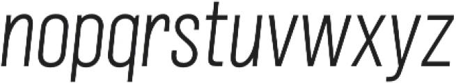 Grillmaster Narrow Extra Light Italic otf (200) Font LOWERCASE