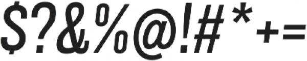 Grillmaster Narrow Regular Italic otf (400) Font OTHER CHARS