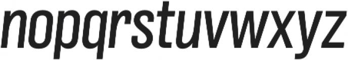 Grillmaster Narrow Regular Italic otf (400) Font LOWERCASE