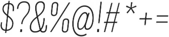 Grillmaster Narrow Thin Italic otf (100) Font OTHER CHARS