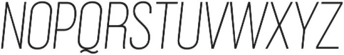 Grillmaster Narrow Thin Italic otf (100) Font UPPERCASE