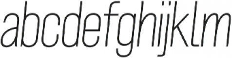 Grillmaster Narrow Thin Italic otf (100) Font LOWERCASE