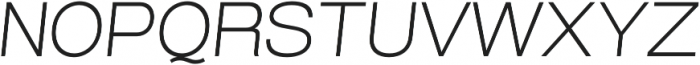 Grillmaster Wide Extra Light Italic otf (200) Font UPPERCASE