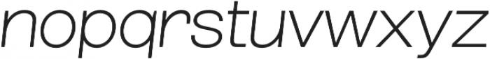 Grillmaster Wide Extra Light Italic otf (200) Font LOWERCASE