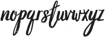 Grimpt Brush otf (400) Font LOWERCASE