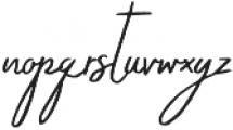 Grimpt Script otf (400) Font LOWERCASE