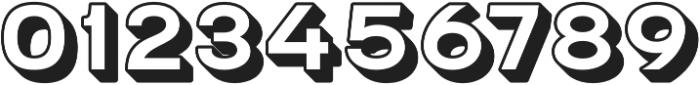 Grindhaus Sans 3D otf (700) Font OTHER CHARS