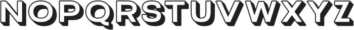 Grindhaus Sans 3D otf (700) Font UPPERCASE