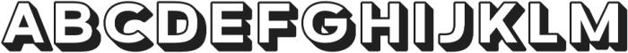 Grindhaus Sans 3D otf (700) Font LOWERCASE