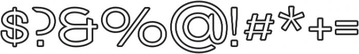 Grindhaus Sans Outline otf (300) Font OTHER CHARS