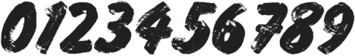 Grocery Brush Regular otf (400) Font OTHER CHARS