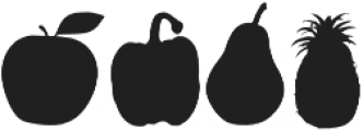 Grocery Veggies Regular otf (400) Font LOWERCASE