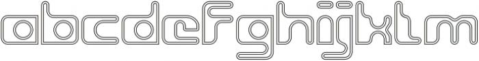 Groovy Inline otf (400) Font LOWERCASE