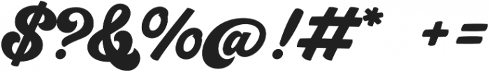 Groovy Script Regular otf (400) Font OTHER CHARS