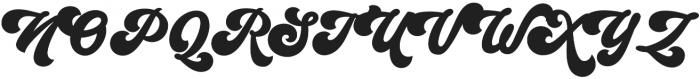 Groovy Script Regular otf (400) Font UPPERCASE
