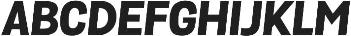 Grota Sans ExtraBold Italic otf (700) Font UPPERCASE