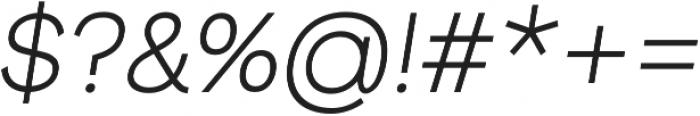 Groteska Book Italic otf (400) Font OTHER CHARS
