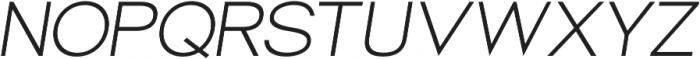 Groteska Book Italic otf (400) Font UPPERCASE