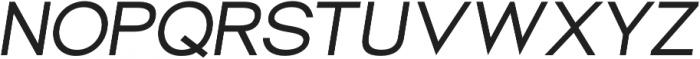 Groteska Italic otf (400) Font UPPERCASE