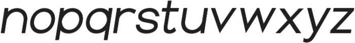 Groteska Italic otf (400) Font LOWERCASE