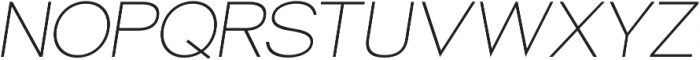 Groteska Light Italic otf (300) Font UPPERCASE