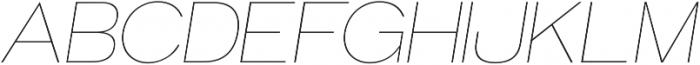 Groteska Thin Italic otf (100) Font UPPERCASE