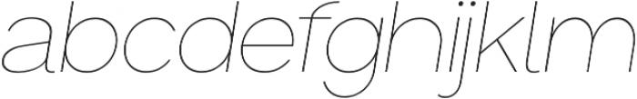 Groteska Thin Italic otf (100) Font LOWERCASE