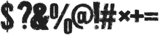Grunge Overlords  Regular ttf (400) Font OTHER CHARS