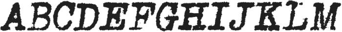 Grungy Old Typewriter Italic ttf (400) Font UPPERCASE