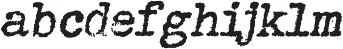 Grungy Old Typewriter Italic ttf (400) Font LOWERCASE