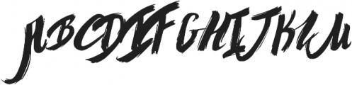 graffity otf (400) Font UPPERCASE